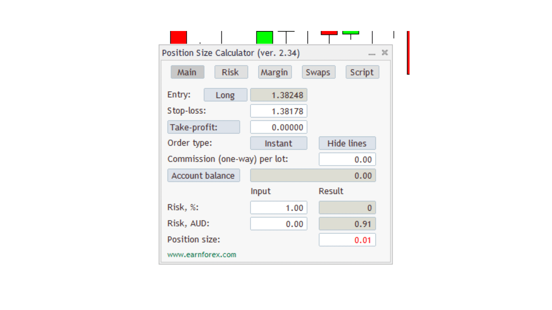 Position Size Calculator for MT4 and MT5 Free Download